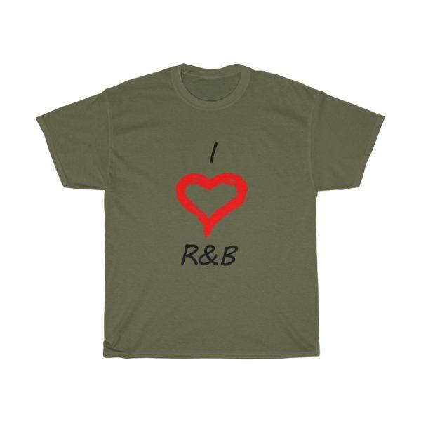 I Love R&B Unisex Heavy Cotton Tee 9