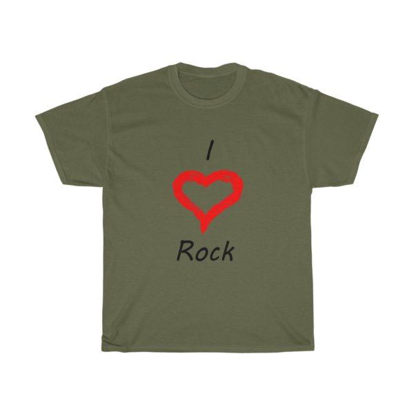 I Love Rock Unisex Heavy Cotton Tee 9