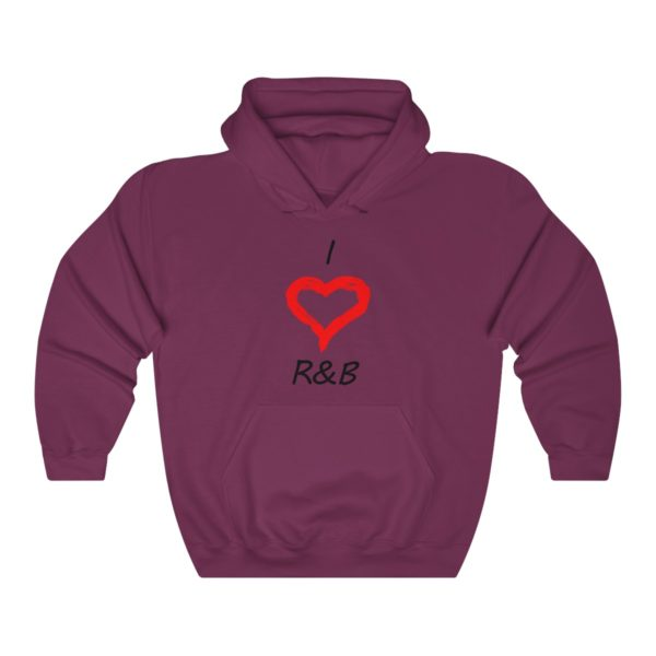 I Love R&B Unisex Heavy Blend™ Hooded Sweatshirt 13