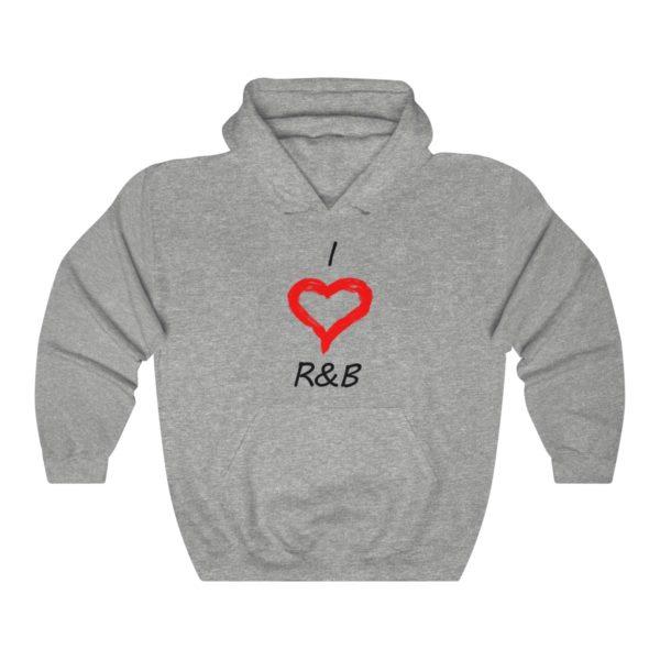 I Love R&B Unisex Heavy Blend™ Hooded Sweatshirt 3