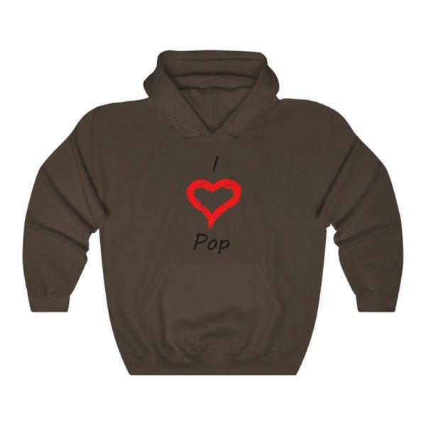 I Love Pop Unisex Heavy Blend™ Hooded Sweatshirt 4