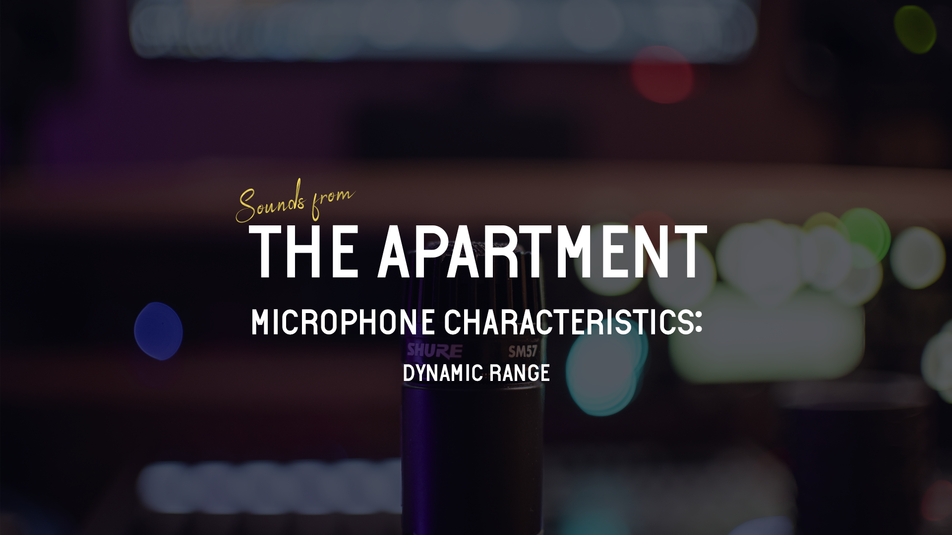 Sounds from the apartment article dynamic range