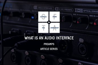 What is an audio interface preamps sounds from the apartment