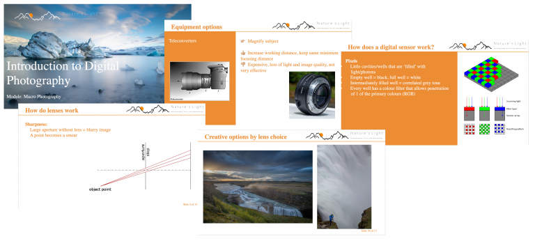 Photography courses and seminars