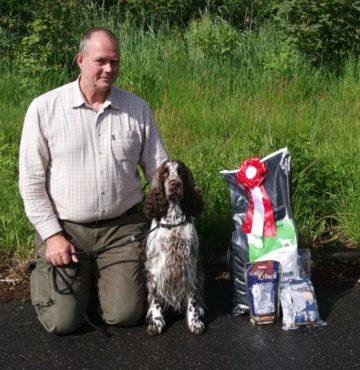 KENNEL NOER'S (Oda) bedste hund på Schweiss prøven