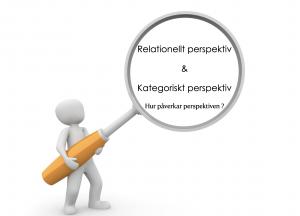 Relationellt perspektiv & kategoriskt perspektiv