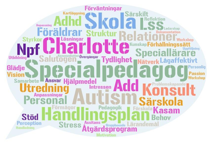 Specialpedagog konsult wordcloud charlotte ghannadSida: Om ossSpecialpedagog konsult wordcloud charlotte ghannad