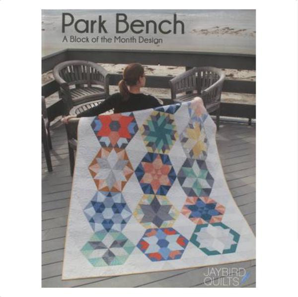 Julie Herman Park Bench Block of the Month Patchwork book bog