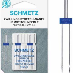Schmetz Twin Needle Stretch Tvillingnål strækstoffer