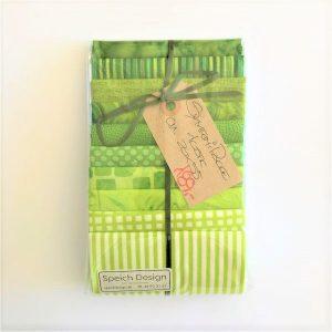 Patchwork stof Symfonipakke grøn