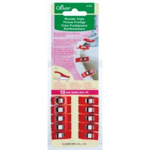 Clover Wonder Clips Red 10 pieces pcs Roed 10 stk 1