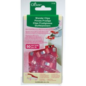 Clover Wonder Clips Red 50 pieces pcs Roed 50 stk