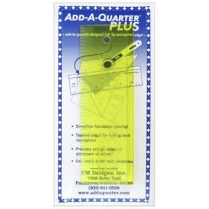 Add-A-Quarter Plus 6 inch ruler lineal