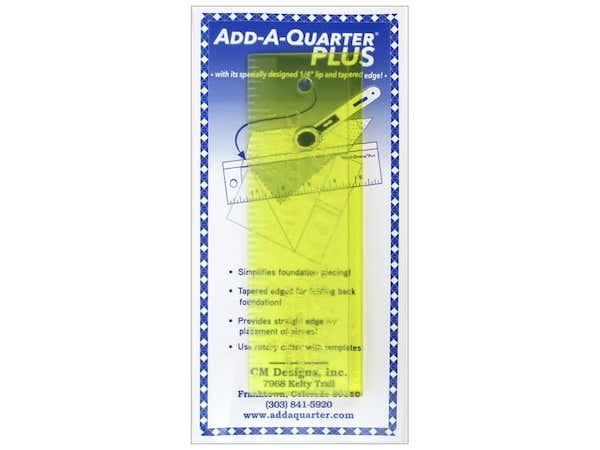 Add-A-Quarter Plus 6 inch ruler lineal