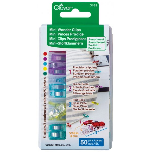 Clover Wonder Clips Mini 50 pieces pcs Multi Color Multifarvet