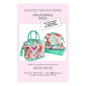 Aunties two patterns mini poppins bag