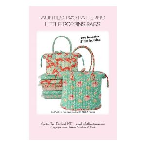 Aunties two patterns little poppins bag