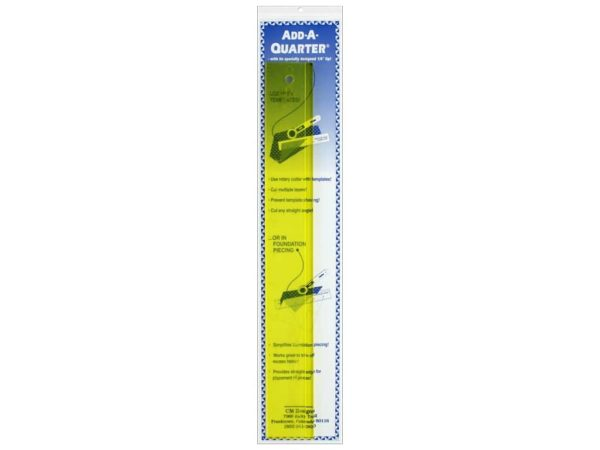 Add-A-Quarter Ruler Lineal 12 inch