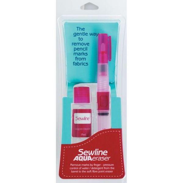 Sewline Aqua Eraser pencil marks on fabric viskelaeder til stof