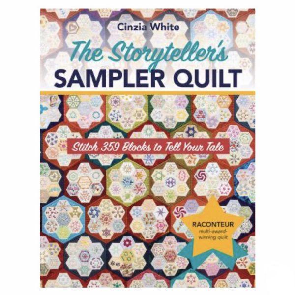 The Storytellers Sampler Quilt Patchwork Book Bog Cinzia White