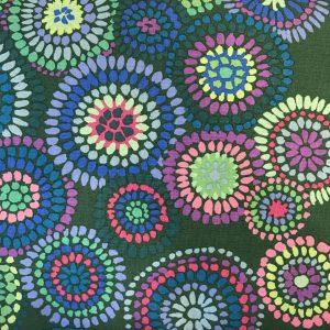 Kaffe Fassett Mosaic Circles Grøn GroenPatchwork Quilt stof tekstil