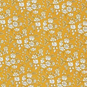 Liberty Stof Tana Lawn Capel Mustard Sennepsgul