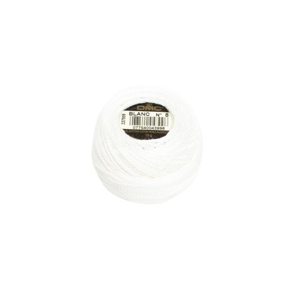 DMC Perle garn hvid 8 blanc
