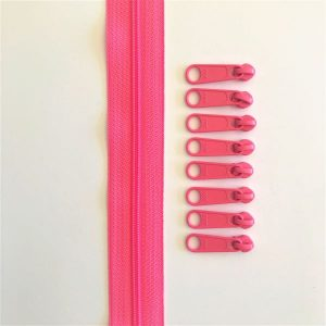 Zipper Tape Lynlås Pam Damour Hot Pink