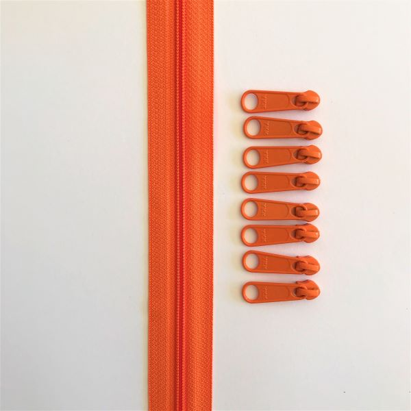 Zipper Tape Lynlås Pam Damour Orange