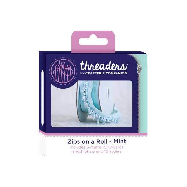 Zips on a roll Lynlås tape Mint