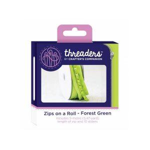 Zips on a roll Lynlås tape limegrøn