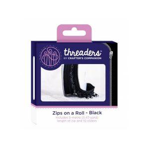 Zips on a roll Lynlås tape sort