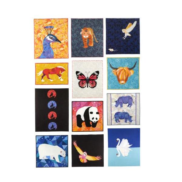 Animal Quilts Juliet van der Haijden Patchwork Quilt Bog