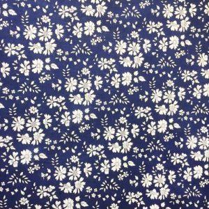 Liberty stof Capel mørkeblå