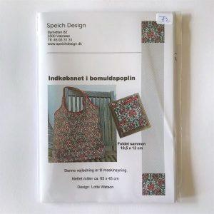 Indkøbsnet bomuldspoplin mønster