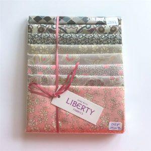 Liberty Stofpakke rosa grå