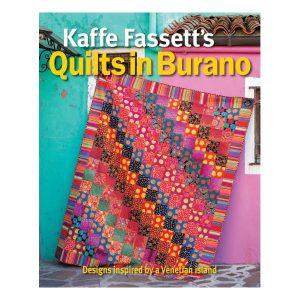 Quilt in Burano Kaffe Fassett patchwork bog 1
