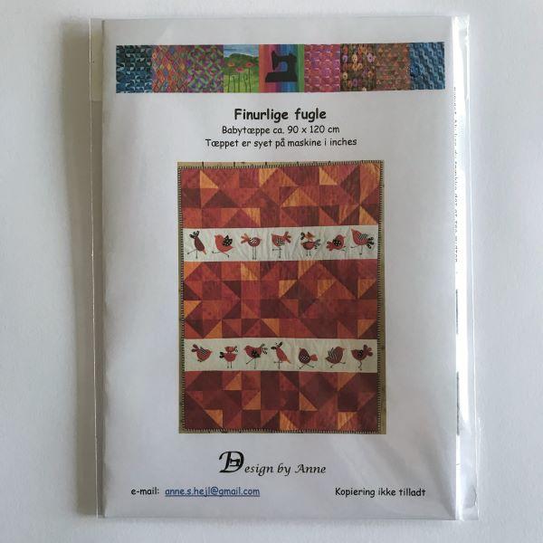 Finurlige fugle Design by Anne Patchwork tæppe