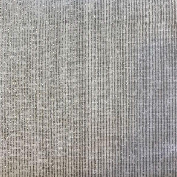 Julestof Hvid Sølv Striber