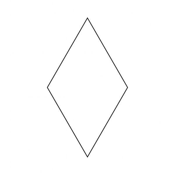 Papskabelon English Paper Piecing Template Rombe 60 grader 6 punkt stjerne 1
