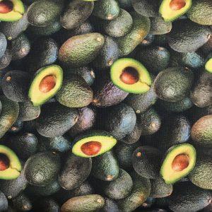 Patchwork stof grøntsager avocado