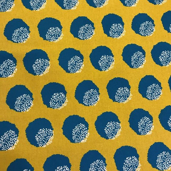 Kokka stof tekstil karry gul turkis