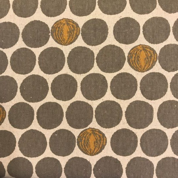 Kokka stof tekstil natur grå