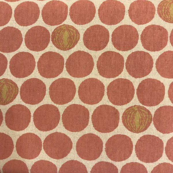 Kokka stof tekstil natur rosa