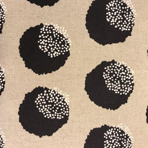 Kokka stof tekstil natur sort