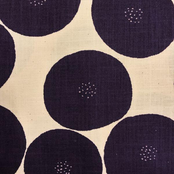 Kokka stof tekstil off white sort