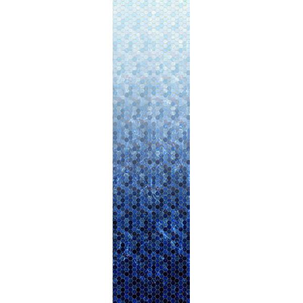 Backsplash Blue blå Hoffman patchwork stof
