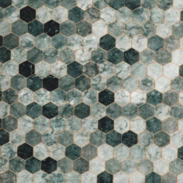 Backsplash Pewter grå Hoffman patchwork stof 2