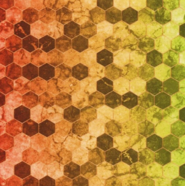 Backsplash Rainbow multifarvet hoffman patchwork stof 2