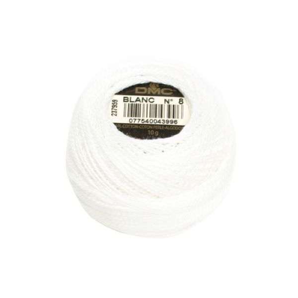 DMC Coton Perle Blanc Bomuld Perlegarn hvid
